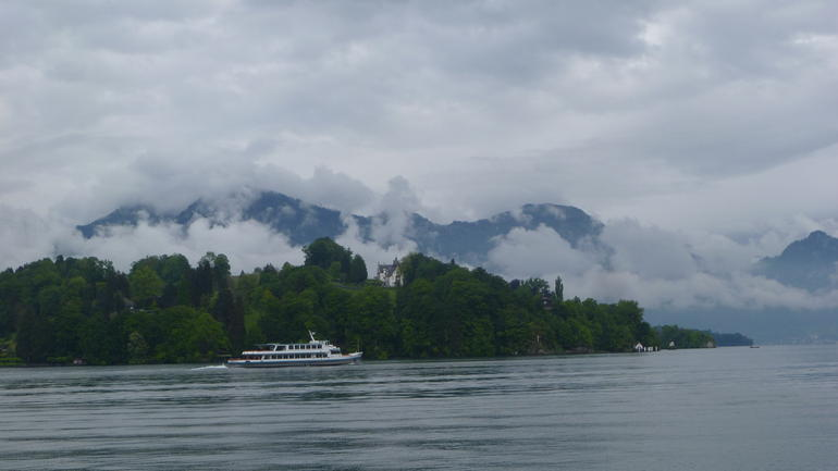 Water, land and sky from Lake Lucerne - Zurich