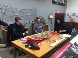 Some Maori hand-making some art piece. Awesome techie! , Ying Z - November 2016