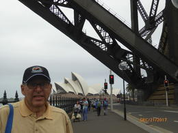 Getting ready to walk the Sydney Harbor BridgeSydney Opera House in distan , Rebecca R - December 2017