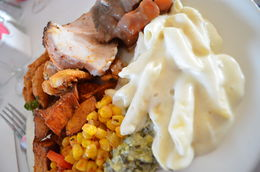 A hearty plate of home-style favorites., World Traveler - October 2014