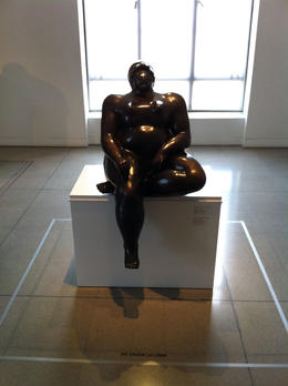 Sculpture by Botero., Bandit - September 2012