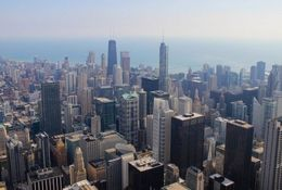 View from the Willis Tower Skydeck, Katie Aune - November 2014