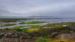 Looking out over the beautiful fields in Þingvellir! , Jeff E - September 2015