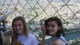 Kate and Kristen from the op of the Eiffel Tower June 2015. , Paul B - June 2015