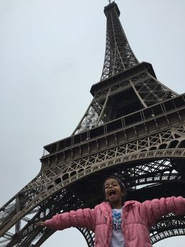 Aamina at the Eiffel Tower , Jezmi A - October 2015