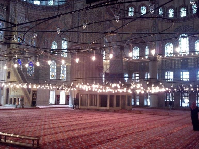 Inside the Blue Mosque - Istanbul