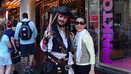 Managed to get a photo with look alike Johnny in Pirates of the Caribbean , Marian D L - October 2013