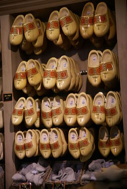Clogs on display at the clog factory , sueg - May 2014