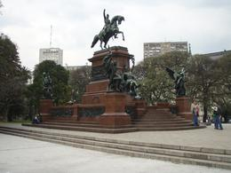 This was the statue where our bike tour met each time. Museo De Armas is behind it across the street., Kathleen S - December 2010
