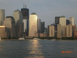 Manhattan sunset on the harbour cruise , Sheila - July 2011
