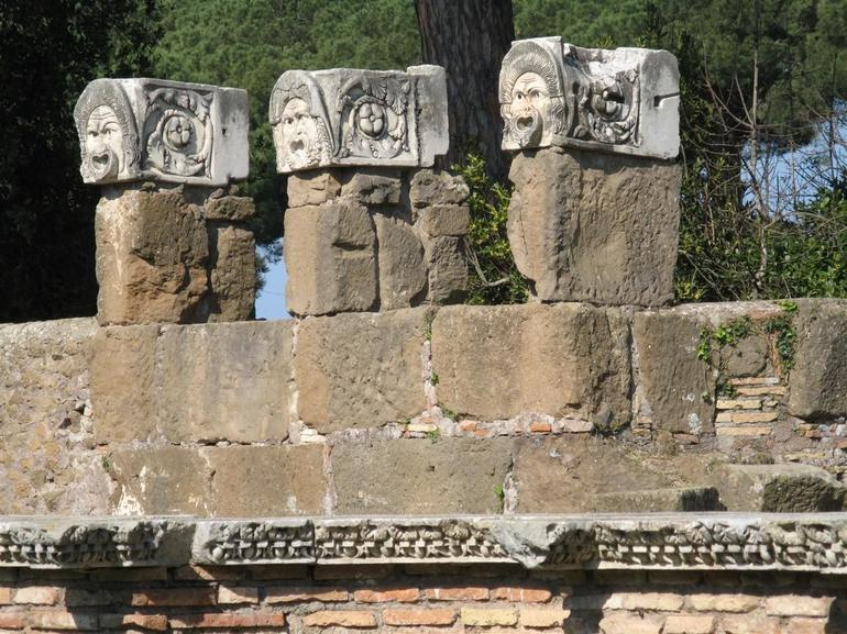 Ostia Theater Masks - Rome