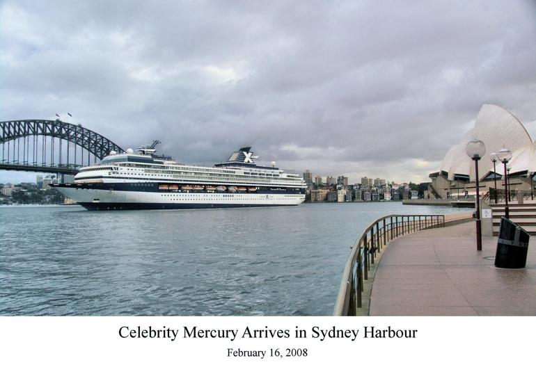 Our cruise ship arriving in Sydney - Sydney