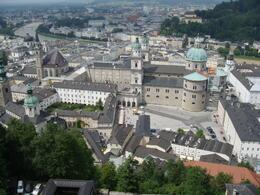 This is a view of Salzburg from the Fort atop the hill overlooking the city. - July 2009