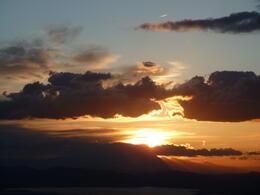 Flying into the sunset , Bev R - April 2012