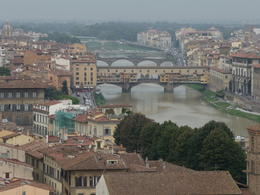 View of the Ponte Vecchio from the Piazzale Michelangelo , Carol N - November 2013