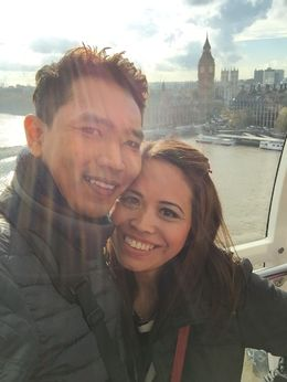 High up in the london eye, you could see Big Ben at the back , NAZEERA N - November 2015