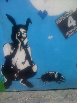 Street art in Montevideo., Bandit - June 2012