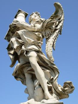 Another of the 10 angels that line the Ponte Sant' Angelo, the bridge to the Castel Sant' Angelo, Rome, Cheryl N - June 2010