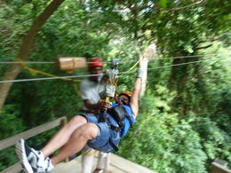 Chris on the Zip Line , Joe H - January 2013