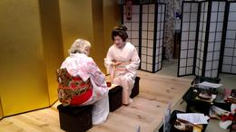 Geisha and Guests are playing traditional games , Rebecca Rice - October 2017