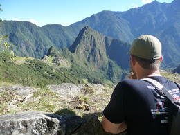 Admiring the ruins from the trail to the Sun Gate, Trina Tron - July 2013