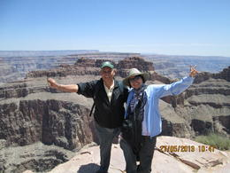 Mart and Abelle Cajita with the Grand Canyon as the background scene. Beautiful work of GOD. , Annabelle G. C - June 2013