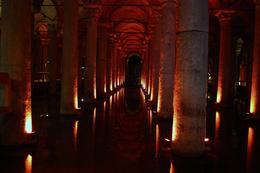 The rows of columns in the cistern., Peter - October 2010
