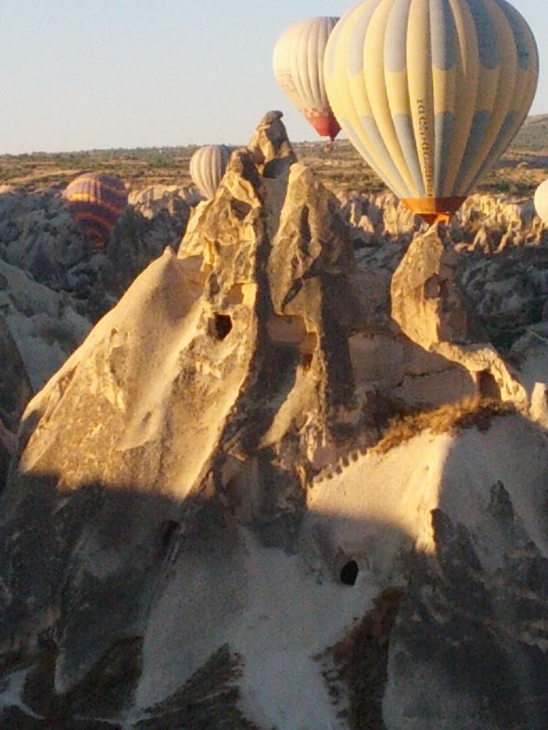 Cappadocia landscape and hot air balloons - Cappadocia