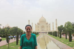 In front of the Taj Mahal - September 2012