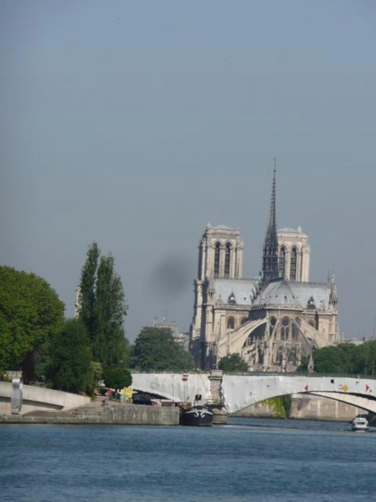 Notre Dame from Boat - Paris