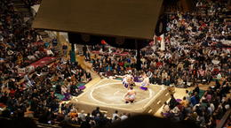 The current Yokozuna's (champions) are presented and introduced. , Alistair M - January 2013