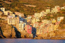 Riomaggiore view from Boat , Nitipon S - November 2015