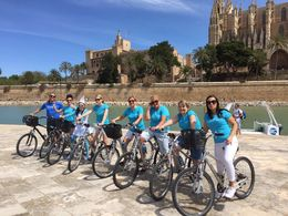 Smurf and her Hens do Palma by bike... , Sylvia M - May 2016