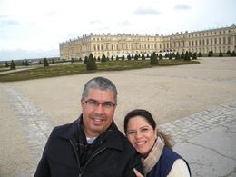My wife and I enjoying beautiful day at Versailles Gardens after tour. , Jose M - November 2014
