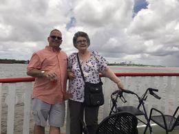 Mum and Alex on deck enjoying the trip . , TraceyG - July 2017