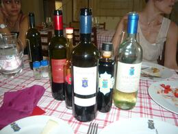 A selection of some of the wines and vinegar we sampled, AlexB - July 2012