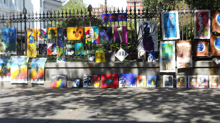 Art displays at Jackson Square - New Orleans