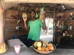 Our Coco Loco Barmaid for the day, LindaGrana - December 2017
