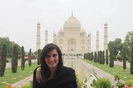 Posing in front of the Taj Mahal - September 2012