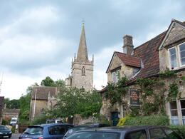 King John's hunting lodge with the church in the background., Robert M - July 2010