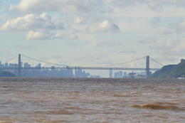 New York skyline as seen from the river through the George Washington Bridge. , Ian S W - October 2011