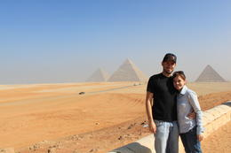 Overlooking the pyramids in Giza , Michael B - January 2011