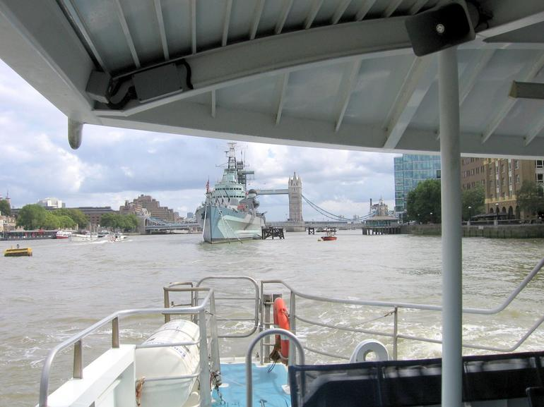 Rear of cruise boat - London