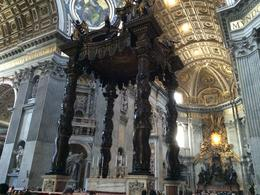 Interior shot of St. Peters. We had ample time to see the church and we could have stayed after the tour officially ends if you want to see the catacombs or walk up the dome. But after approx. 3 ... , Everett W - August 2014