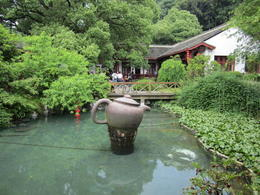Large tea pot outside of a tea house., Julie - June 2012