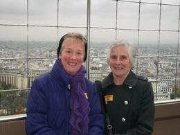 Two Bestest Mates, up the Eiffel Tower. The sheer delight on our faces, at being up the Tower, having got up at 05.15 to catch the 0701 Eurostar, to enable us to have a long day in Paris, and ... , Susan M K - November 2013