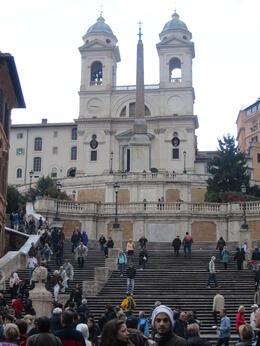 Trinita dei Monti at the top of the Spannish Steps , Elizabeth J - November 2011