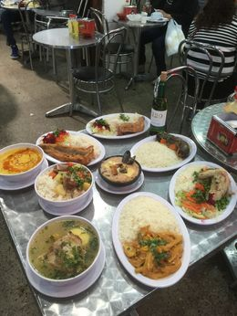 Here is a sample of our lunch at one of the markets we visited , Susan J - April 2016