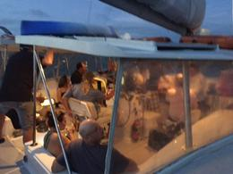 Cabin of Catamaran in the evening. , Scott R - November 2016