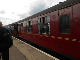 Getting on Hogwarts Express as used in Harry Potter , Tullo - August 2017